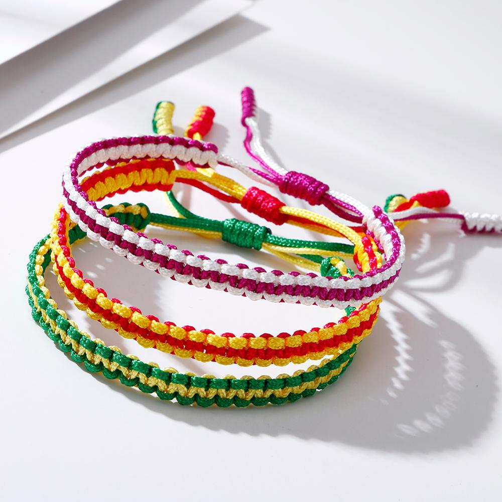 Fashion Cotton Rope Braided Bracelets Boho Beach Friendship Charm Woven Yoga Jewelry for Women Men Gift Pulseras Dropshipping