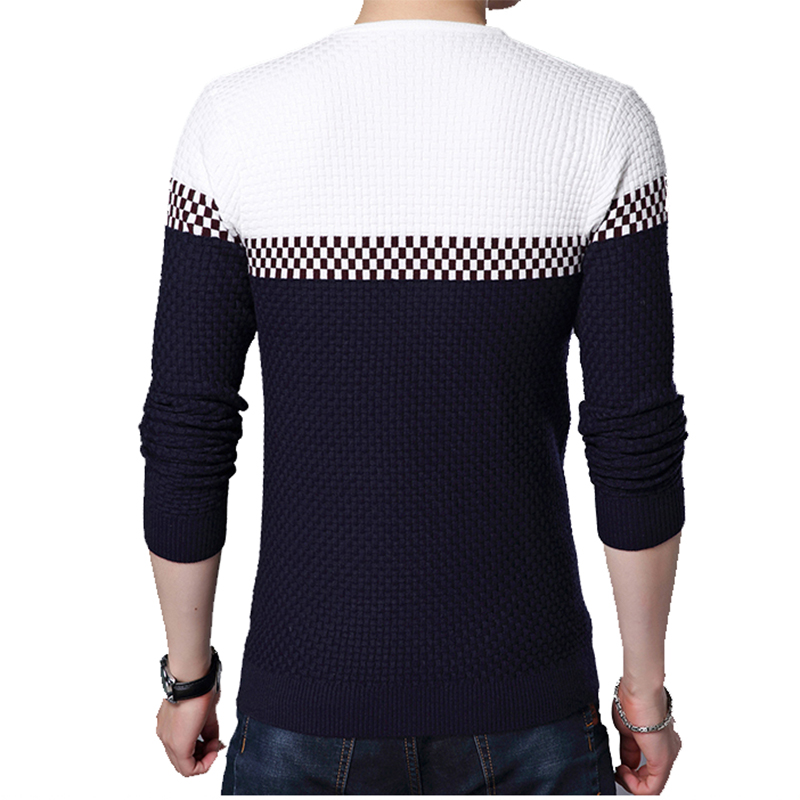 BROWON Men Brand Sweater 2021 Sweater Business Leisure Sweater Pullover V-neck Mens Fit Slim Sweaters Knitted for Man 2