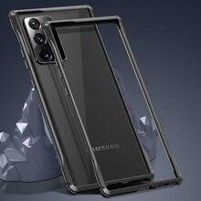 ممتص الصدمات المعدني الفاخر لهاتف Samsung Galaxy Note 20 Ultra ، غطاء وسادة هوائية مقاوم للصدمات لهاتف Samsung Galaxy Note 20 ، إطار من الألومنيوم