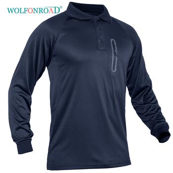 WOLFONROAD taktyczne oddychające męskie koszula wojskowa sport Golf tenis T koszule Camping piesze wycieczki koszulka Dri-dopasowane koszule siatki odzież sportowa tanie i dobre opinie Poliester Stałe Finetex Tees Pełna Camping i piesze wycieczki Pasuje prawda na wymiar weź swój normalny rozmiar Black Army Green Gray Navy Blue Khaki