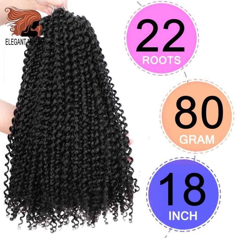 Extensión de cabello trenzada de ganchillo sintético de pelo de giro de la Pasión 22 hebras/Paquete de 18 pulgadas 7 paquete completo tu cabeza primavera twist pelo Toyotress