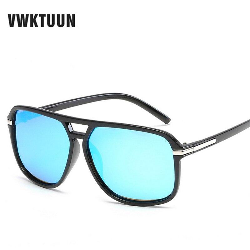 VWKTUUN polarizované pánské sluneční brýle Sport Driving Sunglass Square Shades Sun brýle pro muže UV400 Anti-ultrafialové body Oculos