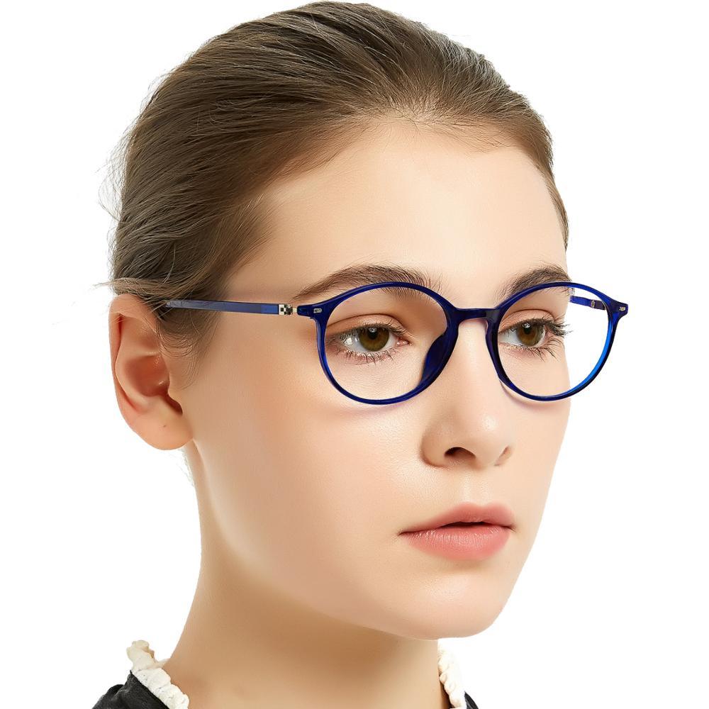 MARE AZZURO Reading Glasses Women Anti-blue Light Retro Round Presbyopia Eyewear TR90 Hyperopia Diopter Spectacles 0 To +6.0