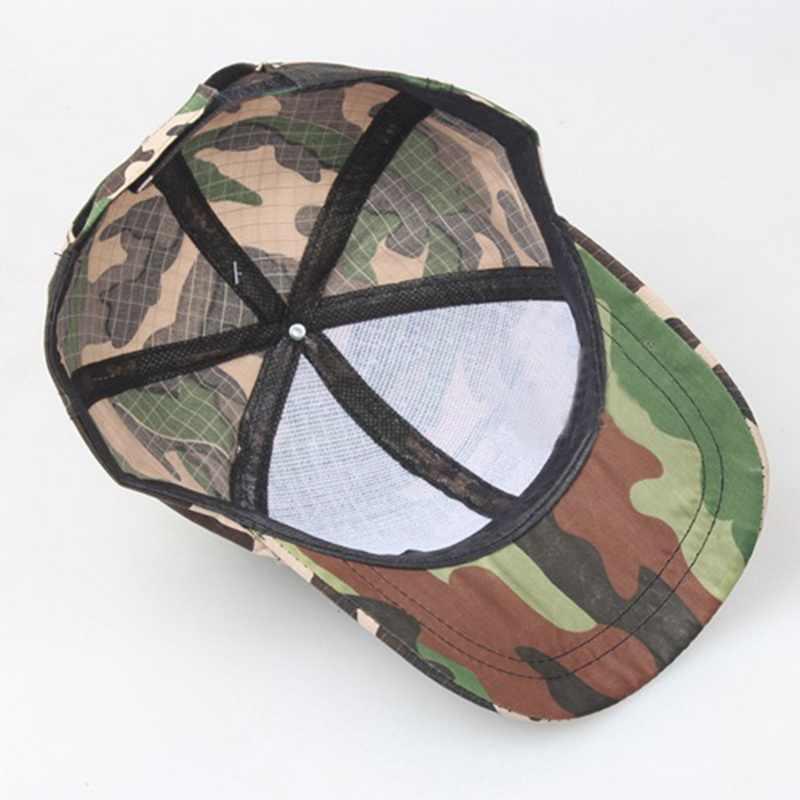 2020 boné de corrida para homens mulheres camuflagem impresso estilo militar chapéus ajustável sol proteção uv esporte bonés