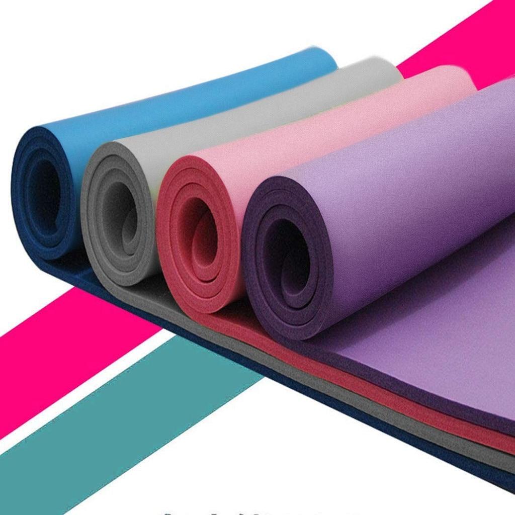 66 #183 см коврики для йоги толщиной и прочная Циновка для йоги противоскользящие спортивные Фитнес Противоскользящий коврик для Похудение Фи...