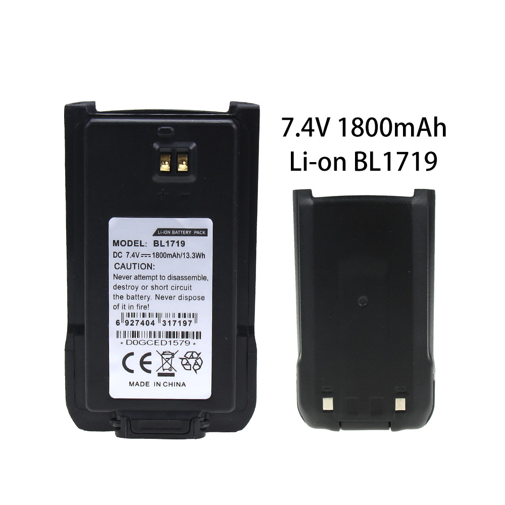7.4v 1800mAh Li-Ion Replacement Battery For HYT BL1719 For HYT TC-508 TC518 TC580 2 Way Radio