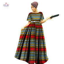 Fashion Women Patchwork Ankara Long Tutu Dresses Bazin Riche African Print for Style Clothing WY3122