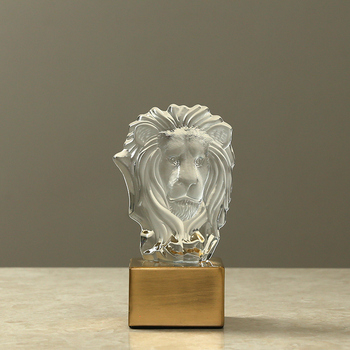 Crystal Animals Accessories Creative Modern Ornaments Sculpture Metal Figurines Personalized Statuette Home Decoration KK60HD