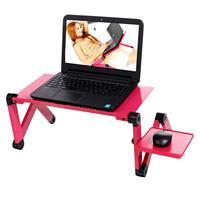 360 градусов Регулируемый складной стол для портативного компьютера ноутбука настольная подставка с мышью доска розовый красный