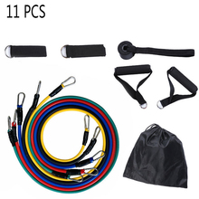 11PCS Resistance Bands Set, Resistance Bands with Door Anchor Attachment, Ankle Straps and Carry Case, Tension Band for Weights