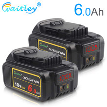 Batterie Li-ion remplaçable Witley DCB200 18 V 6Ah compatible avec les Batteries au lithium Dewalt 18 volts MAX XR(China)