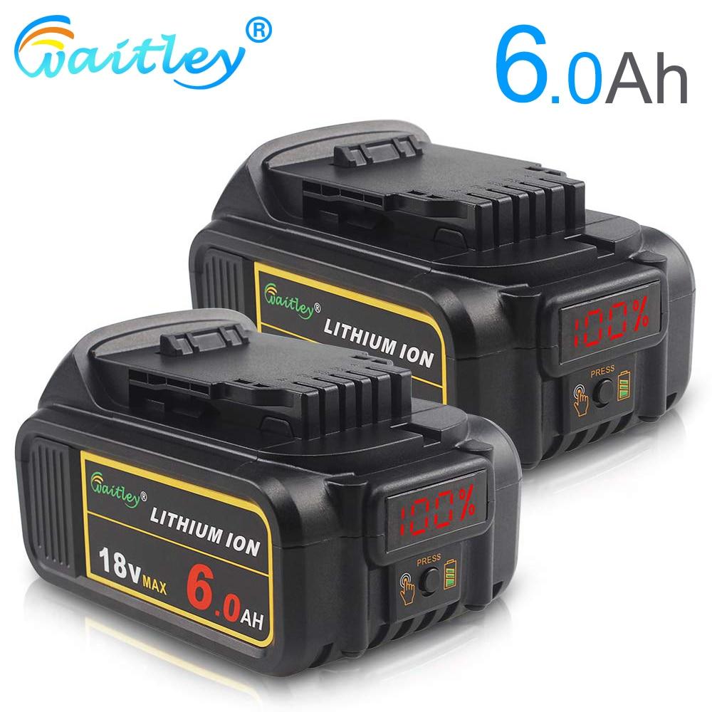 Compatível com Dewalt Baterias de Lítio Witley Substituível Li-ion Bateria Volts Max xr Ferramentas Elétricas Dcb200 18 v 6ah