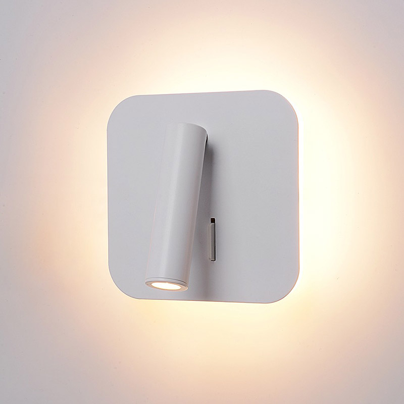 Living room bedroom lamp wall lamp led reading lamp with switch aluminum modern minimalist dual control rotatable wall light|LED Indoor Wall Lamps| |  - title=