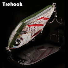 TREHOOK 6cm/8cm Jerkbait Slow Sinking Wobblers For Pike Crankbaits Fishing Lure Rattling And Vib For Winter Fishing Tackle 2020