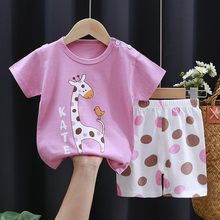 Fashion Baby Clothing Casual 2 Piece Set Toddler Clothes T-shirts + Shorts Suit For Baby Girl Boy Clothes Summer Set