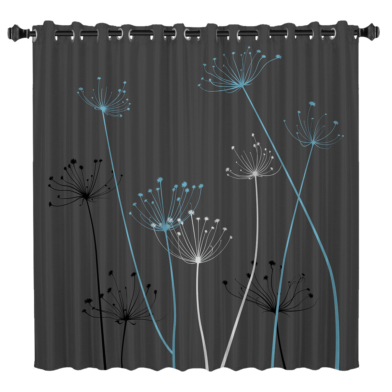 Plant Pattern With Light Window Treatments Curtains Valance Room Curtains Large Window Window Curtains Dark Window Blinds Living