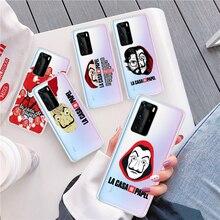 La Casa de papel The Paper House Soft TPU Phone Case For Huawei P Smart 2019 P30 Lite