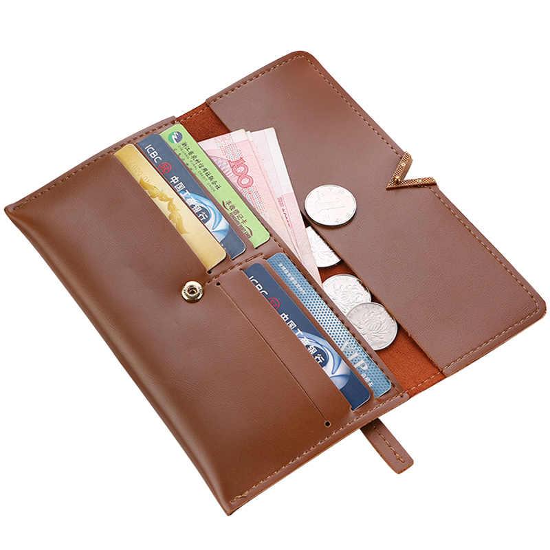 2019 billeteras de cuero para mujer con cerrojo para mujer, monedero con cremallera para mujer, sobre, cartera, tarjetas de dinero, tarjetero, bolsos, monederos, bolsillo