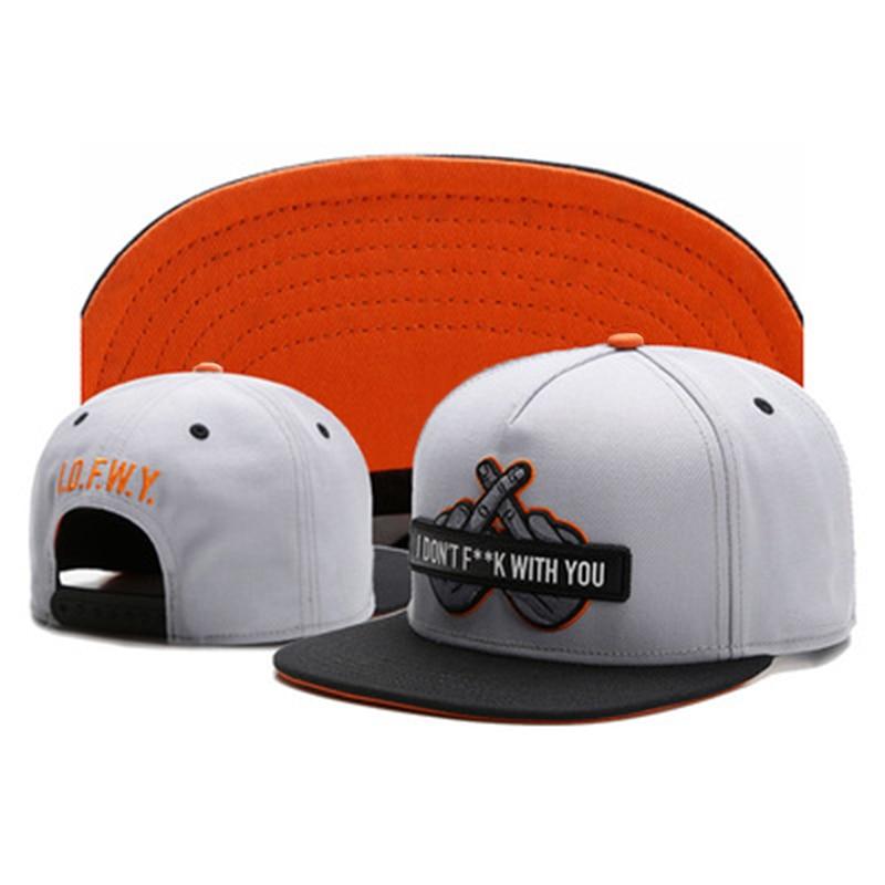 New Finger Embroidery Baseball Cap Fashion Hip Hop Snapback Caps Men Women Adjustable Universal Wild Hat Street Trend Cool Hats