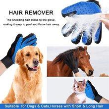 Gato grooming luva cão de estimação escova de limpeza de cabelo desmancha pente escova de banho remoção do cabelo limpeza massagem luva para animal