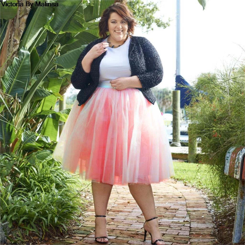 Musim dingin Tutu Rok Wanita Gadis Putri Berbulu Lipit Rahasia Plus Ukuran Pink Womens Faldas Rokken Jupe Kustom Tulle Rok