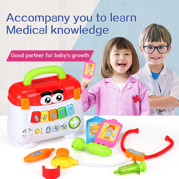 Children Medical Kit Doctor Nurse Pretend Play Set Portable Suitcase Medical Tool Kids Portable Suitcase Medical Kit Toys 15 pieces set children pretend play doctor nurse toy set portable suitcase medical kit kids educational role play classic toys