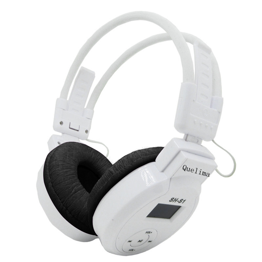 Foldable Sports Wireless Headset LED FM Radio Headphone Support TF Card#T2 3
