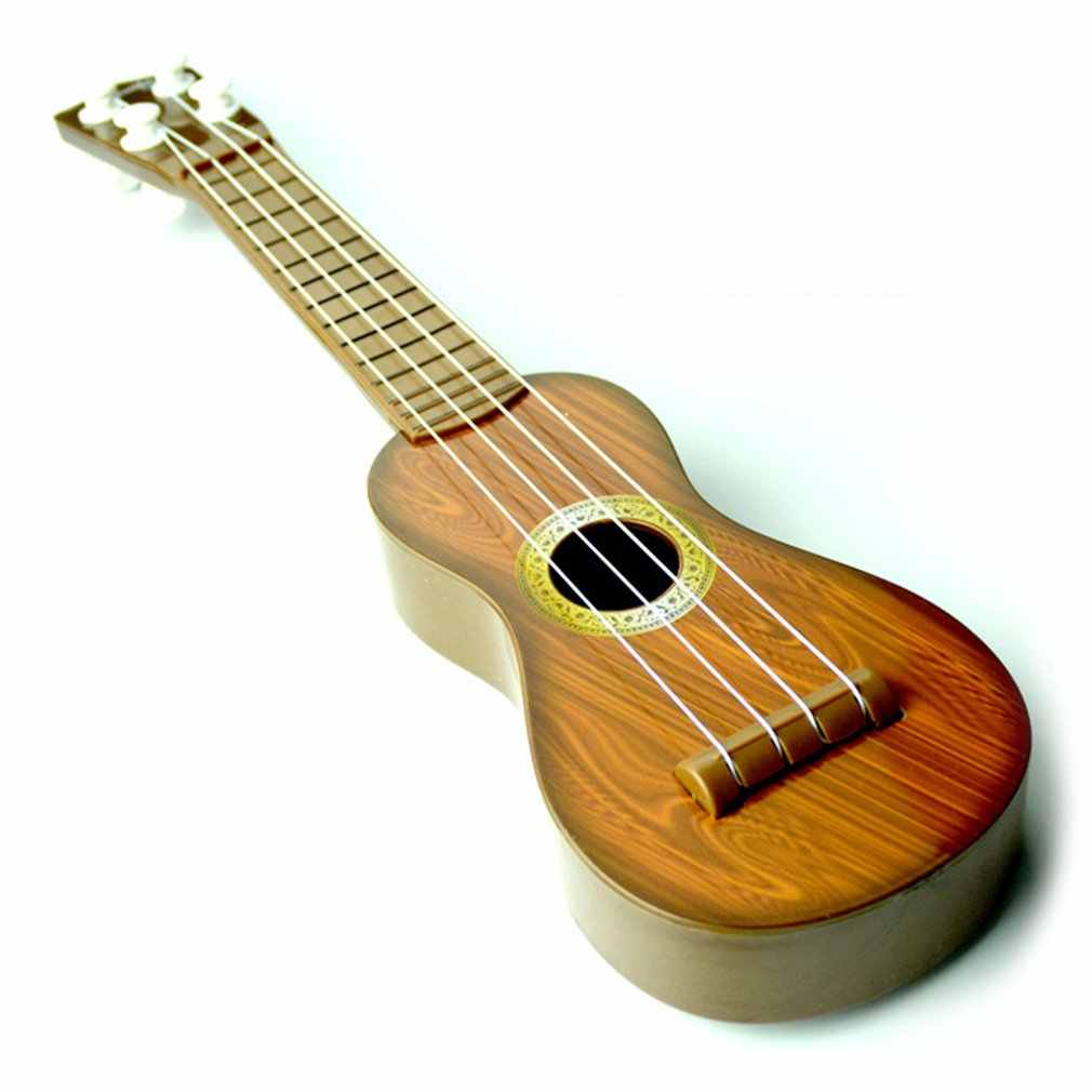 21 inch Ukulele Beginner Hawaii 4 String Nylon Strings Guitar Musical Ukelele Toys for Children Kids Girls Christmas Gift Random