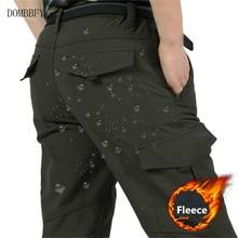 Men's Fleece Tactical Pants Winter Warm Military Cargo