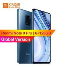 Versão global xiaomi redmi nota 9 pro 6gb 128gb nfc smartphone 6.67