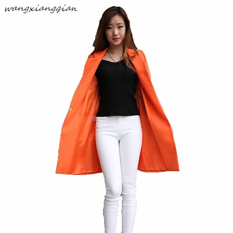 2019 Spring New Small Suit Female Korean Version Of The Long Section Long-sleeved Large Size Suit Was Thin Wild Jacket B155