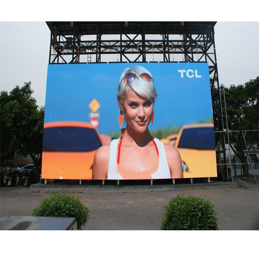 Outdoor P3.91 SMD1921 RGB LED Panel 500x1000mm Die Cast Aluminum Cabinet, Led Video Billboard Screen Display For Wedding