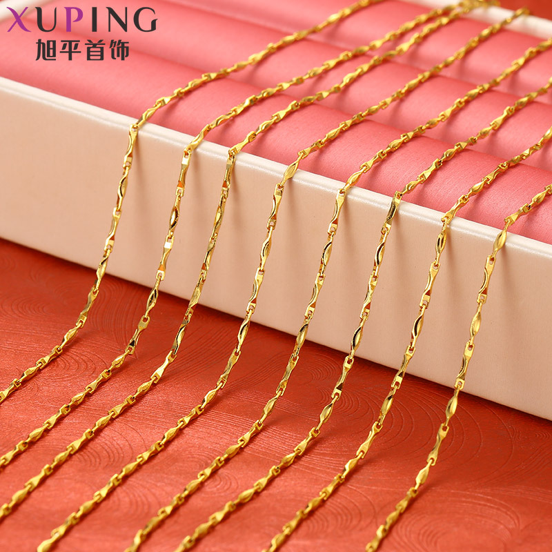Xuping Jewelry Gold Plated Viet Nam Alluvial Gold Necklace Women's Simple Choker Single-necklace Necklace Short Game Gold Neckla