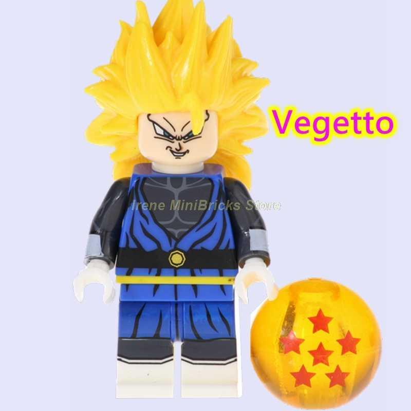 Figuras de superhéroes Bola de Dragón Z Vegeta Gogeta vegetal Son Goku Krillin Frieza Nappa bloques de construcción juguetes para niños Anime