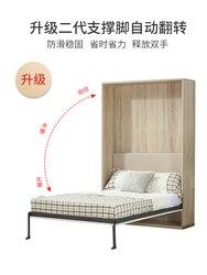 Woonkamer Balkon Studie Muur Bed Vouwen Onzichtbare Bed Met Garderobe Multifunctionele Wand Bed Draaien Hardware Accessoires