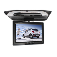 9 Inch Roof Mount Display Video Dome Lights ABS DVD Car Monitor Flip Down With Remote Controller TFT CD Player LCD Color