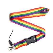 CA101 Wholesale 20pcs/lot Rainbow Multi function Mobile Phone Key Strap Rope Lanyard Neckband Mobile Phone Decoration 1pcs