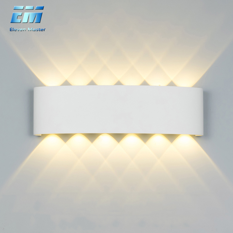 Nordic Wall Lamp Led Aluminum Outdoor Indoor  Up Down White Black Modern For Home Stairs Bedroom Bedside Bathroom Light ZBW0010