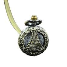 Reloj Unisex reloj Retro Vintage Steampunk cuarzo collar tallado colgante cadena reloj nuevo Fob Vintage bronce Stea