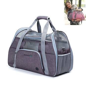 Dog Carrier Bag Portable Pet Backpack Breathable Messenger Cat Carrier Sport Riding Hiking Outdoor Pets Handbag French Bulldog