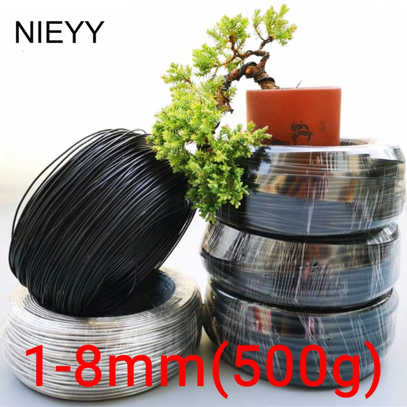 1mm-8mm Metal Aluminum Wire Bonsai Modeling Material Aluminum Wire Gardening Tools Pot Bonsai Shape Aluminum Wire 500G/Rol(China)
