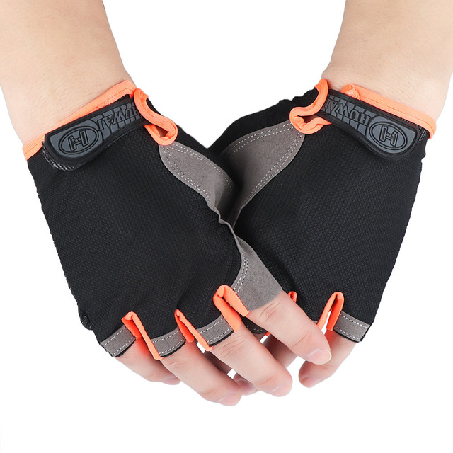 Half Fingerless Gloves Non-slip Sport Mittens Cycling Gloves Bicycle Sport Wrist Wrap Gym Gloves for Fitness Body Building 3