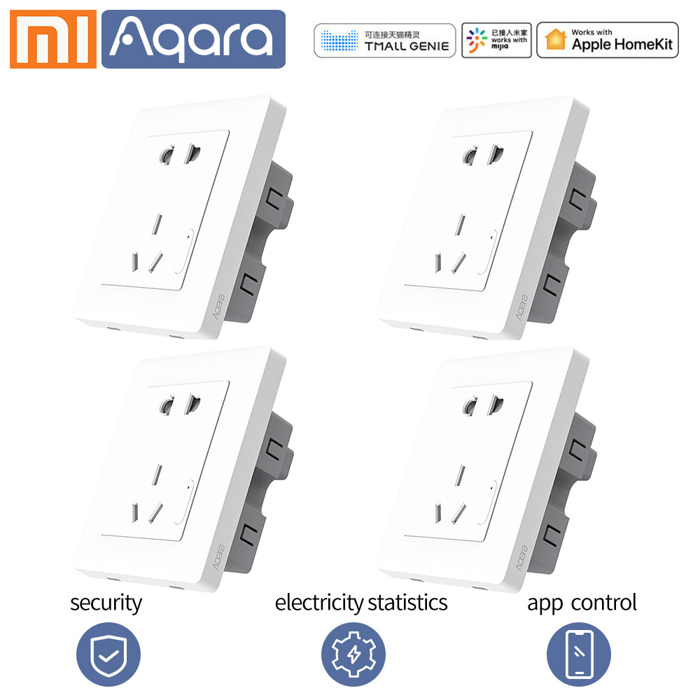 Умная розетка Aqara Xiao mi, Беспроводная розетка, розетка, умная жизнь, беспроводной пульт дистанционного управления, приложение для mi home mi jia App