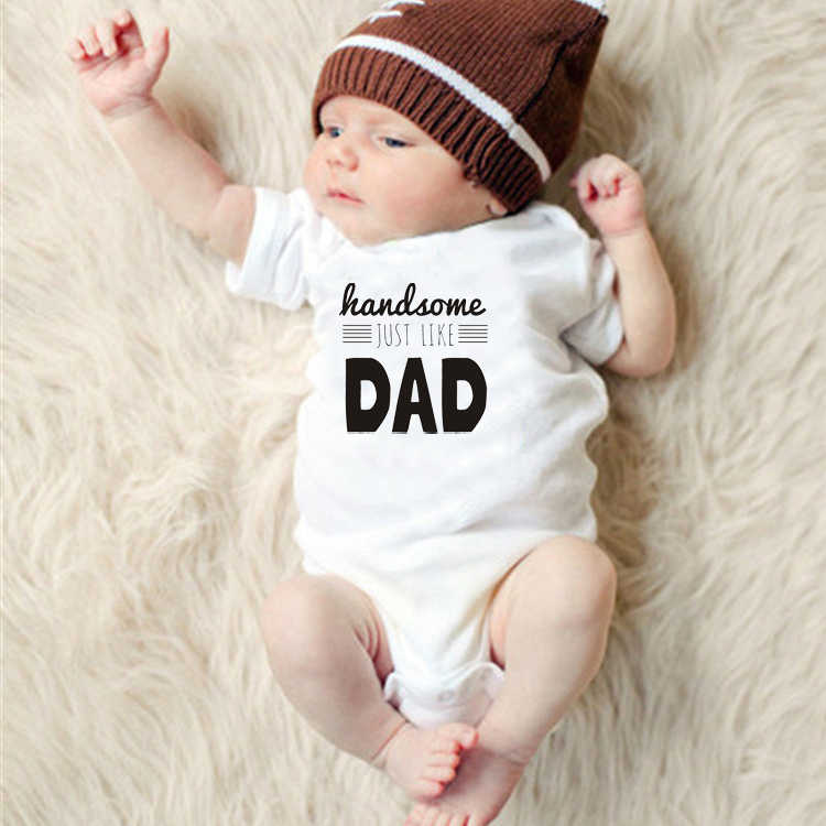 Dad Letter Printing New Born Baby Clothes  One-Pieces Baby Rompers Toddler Clothing Infant Kids Boys Clothes Jumpsuit Outfits