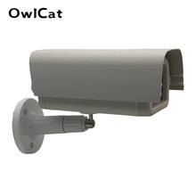 Indoor Outdoor Alluminio/di Plastica Casa CCTV Camera Housing Protegge Il Caso w/ brakit Staffa di Plastica per il Video Telecamere di Sorveglianza