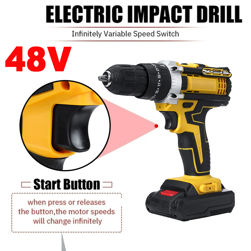 Electric Driver Lithium-Ion 2 Screwdriver Mini With Impact Drill 3 Torque Drill 48V Wireless Power Cordless Battery Cordless 25