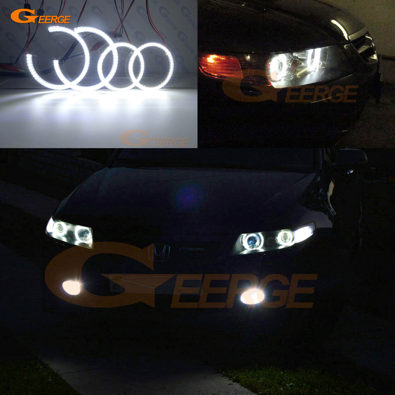 Excellent 4 pcs Ultra bright illumination smd led Angel Eyes halo rings For <font><b>ACURA</b></font> <font><b>TSX</b></font> 2003 2004 2005 2006 <font><b>2007</b></font> 2008 image