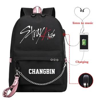 Mochila Kpop, детский рюкзак, женские рюкзаки, школьные сумки для девочек-подростков, Usb зарядка, рюкзак для ноутбука, повседневный рюкзак для путе...