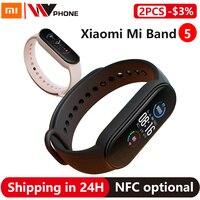 Xiaomi Mi Band 5 Smart Armband 4 Farbe AMOLED Bildschirm Miband 5 Smartband Fitness Traker Bluetooth Sport Wasserdichte Smart Band