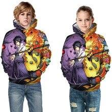 Sweatshirts Pullovers Hooded Naruto Sasuke Design Children Brand Cool Girl Boy Kids Fashion